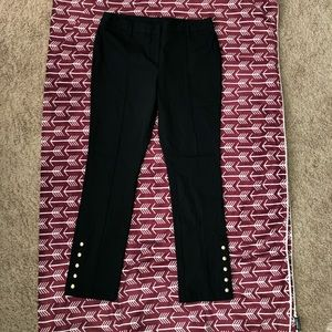 INC black pants with gold embellishments